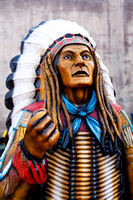 Red indian mannequin