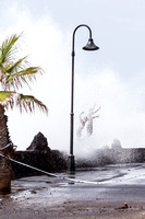 High seas and strong waves batter Tenerife coast.