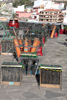 Firework launchers at the fiesta Lustrales Garachico